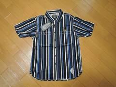 新品CRIMIEクライミーストライプシャツS紺系半袖