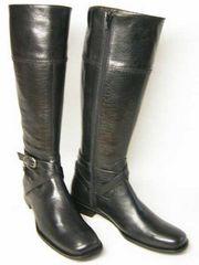 サヴァサヴァcavacavaジッパー付ジョッキー ブーツ16097BL22cm