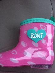 新品格安!《ロニィ》長靴ピンクドット柄18cm