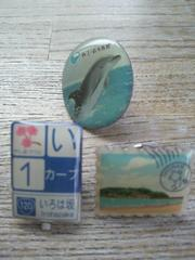 ご当地ピンズ江ノ島・新江ノ島水族館・いろは坂ピンバッチ�Bコセット
