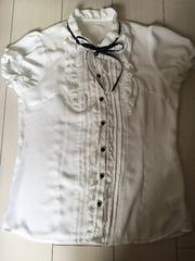 半袖ブラウス☆白☆半袖カットソー☆シャツ