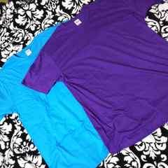新品 紫&ブルー 無地Tシャツ大きいサイズ2枚組(●^o^●)3L