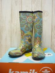 即決☆カミック レインブーツ ボヘミア GN/23cm カナダ製 長靴 新品