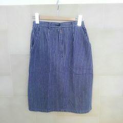 RENOWN 綿100% ストライプ柄スカート