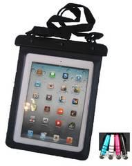 iPad.Nexus7.黒 両面シースルー 防水ケース.写真動画撮影ok/ペン