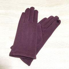 【NEW/タグ付】スマホ対応 裏起毛グローブ/手袋/パープル