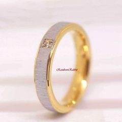 指輪 18K RGP ゴールド シンプル 上品 リング gu1391e
