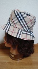 BURBERRY/バーバリー帽子リバーシブルノバチェック×ベージュ