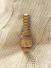 オメガ ジュネーブ 手巻き腕時計 ゴールド スクエアフェイス