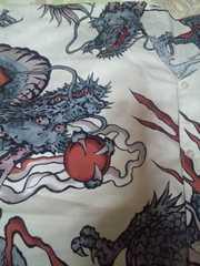 ☆新柄白×大龍玉柄大人用ダボシャツ3L