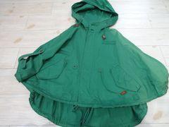 SLY/訳あり ポンチョ型 ジャケット コート 緑/