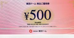 東京ドーム株主優待券6000円分:送料込