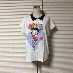 Selects★Betty Boopベティーブープ/襟付きTシャツ★新品