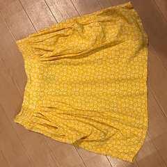 エイチアンドエム 花柄スカート イエロー H&M