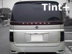 Tint+再使用できるエルグランドE51後期 テールランプ スモークフィルム エンブレム有