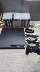 PS3 薄型本体 HDD250GB換装 ソフト23本 完動品