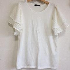usedシワのみフリル袖TシャツL(11号)ホワイト