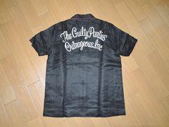 新品ワコマリアWACKO MARIAボーリングシャツM黒50'Sステッチ刺繍
