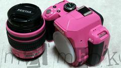 一眼レフカメラ ペンタックスK-r ピンク 中古品