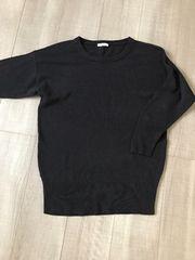 GU黒ニット、セーターS