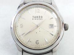 5673/タケオキクチ★ヴィンテージデザインエクスプローラーの様なフェイスメンズ腕時計