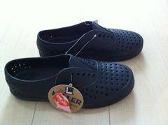 nativeネイティブMILLER/BEAMS/スニーカーサンダル新品25cm靴ブラック送料無料