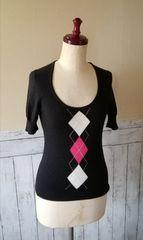 コムサイズムのアーガイルセーター