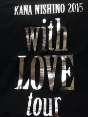 西野カナ 2015 with LOVE tour Tシャツ ブラック S