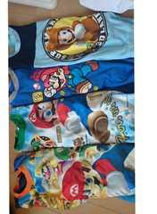 130マリオパジャマ上のみ長袖四枚セット
