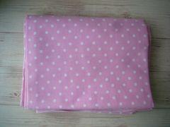 スケアー生地 ピンクに白のドット柄 110×1m 水玉柄