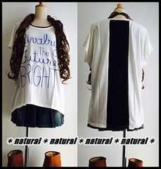 新作★大きいサイズ3L 後ろレース切替ロゴプリTシャツ&タンクセット*白×黒
