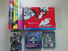 PSP/Vita/PS4 ペルソナ3/ペルソナ4/ペルソナ5ゲームソフト&攻略本4作品セット