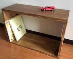 おもちゃ入れ本棚無垢木材アンティーク手作り収納