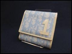C Dior クリスチャン ディオール トロッター Wホック 財布 美品