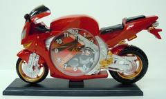 レーシングバイク型目覚まし時計 赤・青セット ¥1〜
