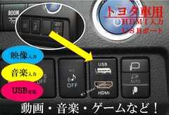 トヨタ車用/HDMI入力&USB電源ポート搭載 スイッチホール