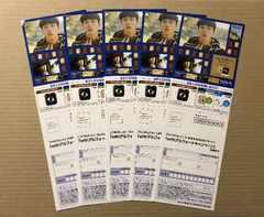 坂口健太郎◆アルフォート キャンペーン 応募ハガキ付チラシ5枚