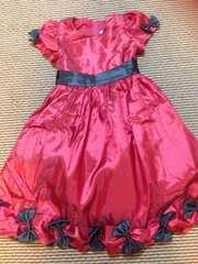 裾リボンドレス・赤130センチ