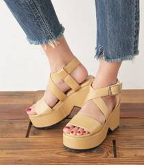 今期!SLY CROSS PLATFORM SANDAL☆新品!