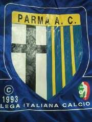 Kappa カッパ イタリア サッカー PARMA パルマ アノラック パーカー ジャンパー ブルー L