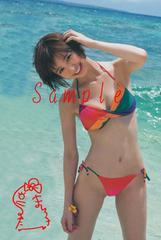 【送料無料】 AKB篠田麻里子 写真5枚セット<サイン入>20