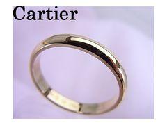 【即買】Cartier 750 イエローゴールド クラッシックリング 甲丸 63 新品★dot