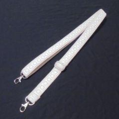 ◆ショルダー紐◆アイボリー色アクリルテープにレース縫い付け◆