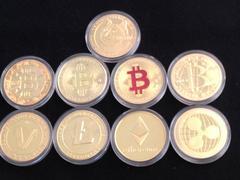 ビットコイン ドージコイン XRP ETH Litecoin LTC 等金貨9枚