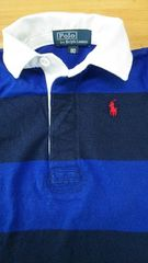 春物.polo.ラルフローレン.長袖ポロシャツ.サイズ80.青色&紺色