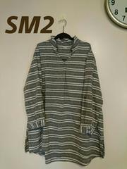 《SM2》新タグ/大きいサイズ/フリー/グレーボーダーチュニック☆