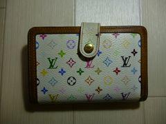 ルイ・ヴィトン モノグラム マルチカラー がま口 二つ折り財布