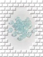 ≪はんぱモノ≫『アクリルビーズ』ソロバン型[ライトアクア]70粒*5mm