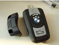 外車のキー風 USBメモリー 大容量の8G