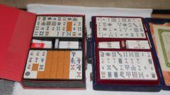 昭和前半頃日本製品質保証書付き麻雀牌セットケース